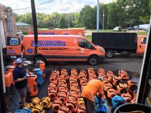 Large Commercial Loss Restoration Preparation